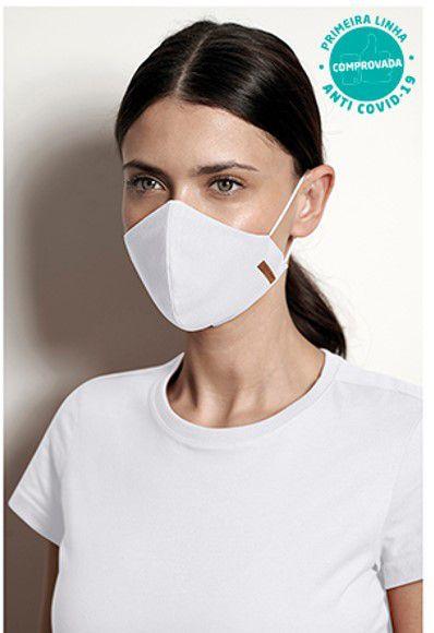 COMBO Blusa Branca Babyl Look Viroblock® e Kit 2 Máscaras Feminina - Malwee Protege