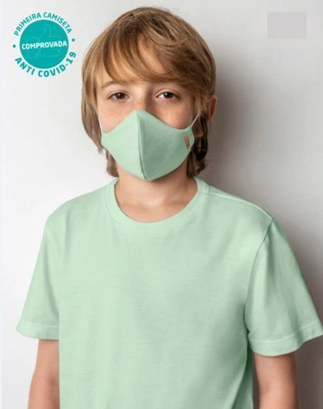 Camiseta Viroblock® Infanto Juvenil - Anti Viral Malwee Protege - Verde Claro