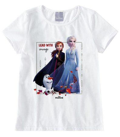 Blusa Infantil Frozen Branca - Malwee