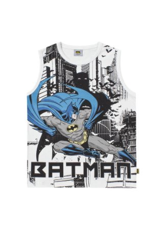 Regata Batman - Branco - Liga da Justiça - Fakini