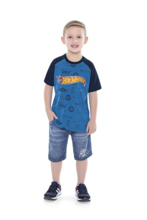 Camiseta Hot Wheels Azul - Fakini