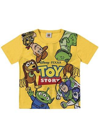 Camiseta Infantil Toy Story Disney - Amarela - Fakini