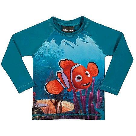 Camiseta Proteção UV 50 FPS  - Nemo - Disney - Verde