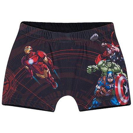 Sunga Boxer do Avengers - Preta