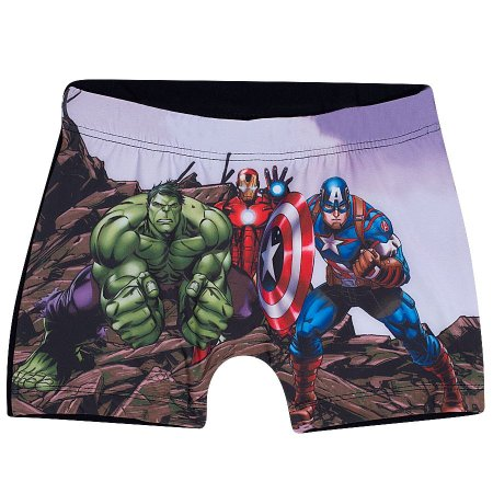 Sunga Boxer do Avengers - Cinza Grafite - Tiptop
