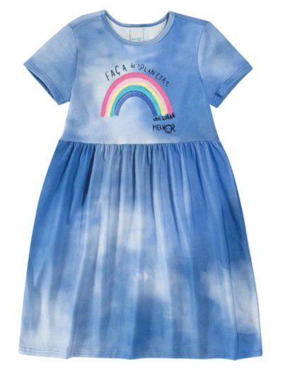 Vestido Tie Dye - Azul Arco Íris - Malwee