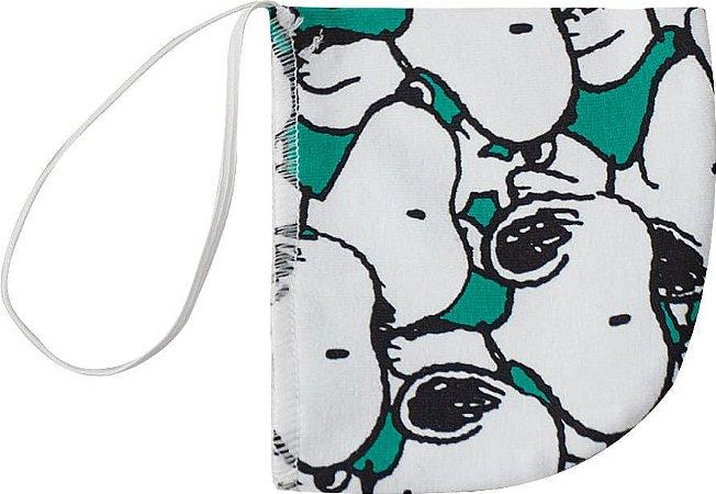 Máscara Infantil Snoopy - Branco e Verde - Malwee