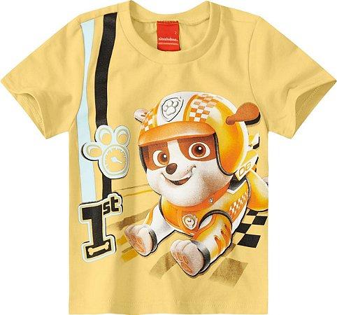 Camiseta Patrulha Canina Rubble - Amarela - Malwee