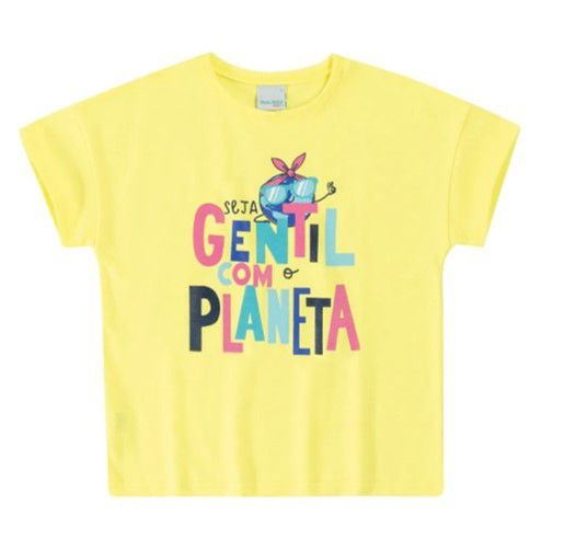 Blusa Seja Gentil com o Planeta - Amarela - Malwee