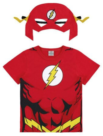 Camiseta Flash com Máscara Vermelha - Marlan