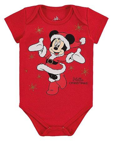 Body Minnie Disney Natal - Vermelho - Marlan