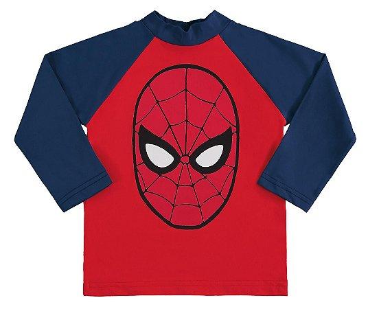Camiseta Bebê Homem Aranha Proteção UV 50 FPS Vermelha - Marlan
