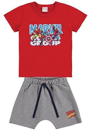 Conjunto Infantil Avengers Vermelho e Cinza - Marlan