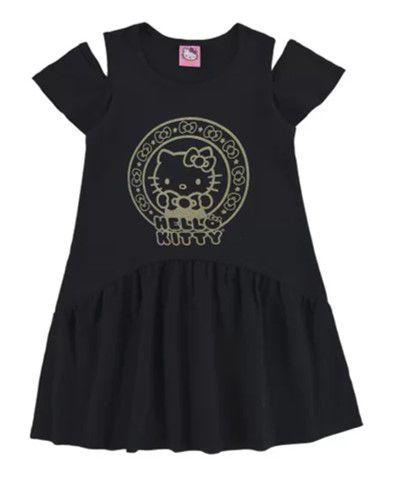 Vestido Hello Kitty - Preto - Marlan