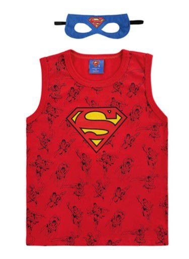 Regata Superman com Máscara Azul - Marlan