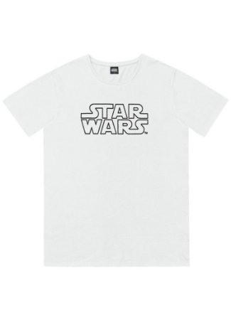 Camiseta Adulto Star Wars Branca - Fakini