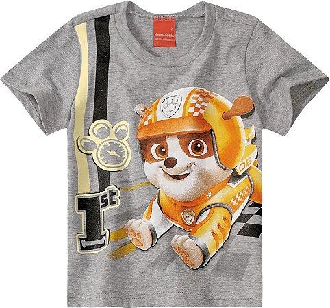 Camiseta Patrulha Canina Rubble - Cinza - Malwee