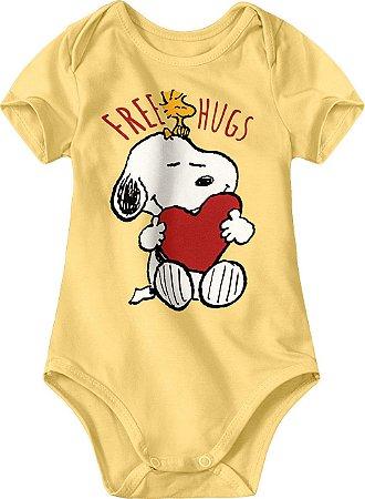 Body Snoopy - Amarelo - Malwee