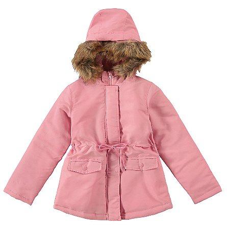 Jaqueta Infantil Soft com Capuz Apeluciado Rosa - Malwee