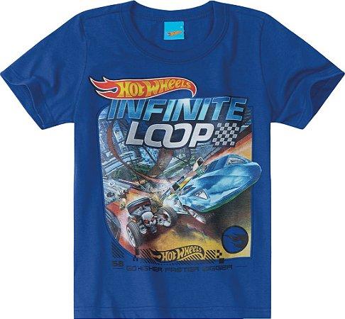 Camiseta Hot Wheels - Azul - Malwee