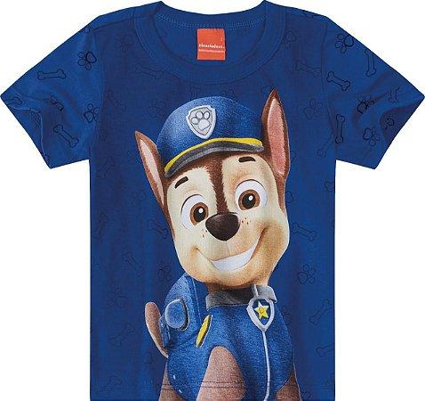 Camiseta Patrulha Canina Chase - Azul - Malwee