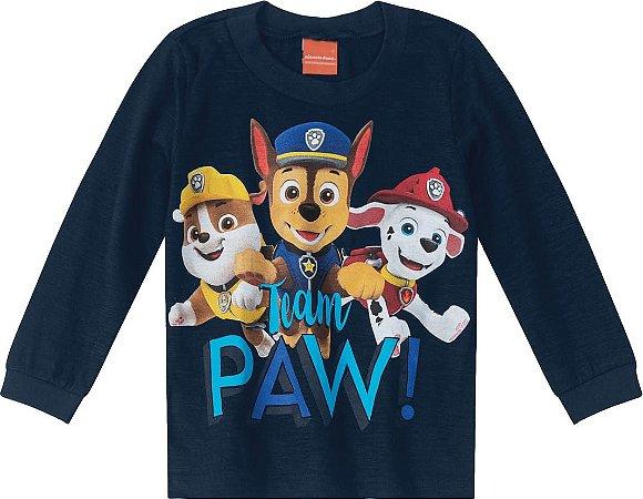 Camiseta da Patrulha Canina - Azul Marinho - Malwee