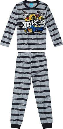 Pijama Hot Wheels - Cinza e Preto - Malwee