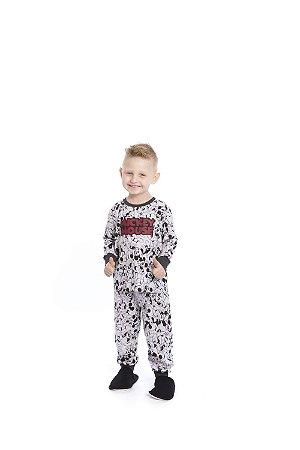 Pijama Mickey Disney - Cinza Estampado - Primeiros Passos