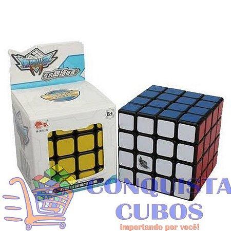CUBO MÁGICO 4X4X4 CYCLONE BOYS G4 PRETO PROFISSIONAL
