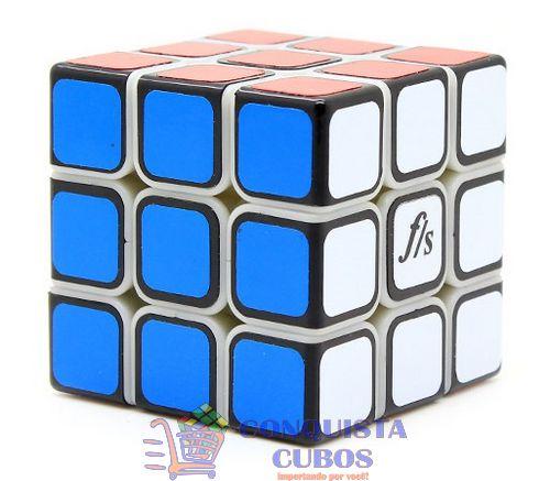 CUBO MÁGICO 3X3X3 FANGSHI SHUANGREN 54.6MM COR PRIMÁRIA COM CAPAS PRETAS
