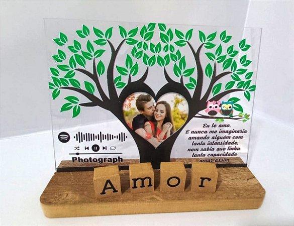 Presente Namorados Porta Retrato Acrilico Spotify