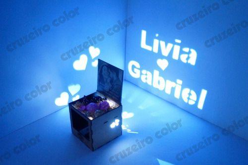Luminaria Cubo Mdf Presente Personalizado Namorado