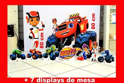 Totens De Chão Blaze Monster Machine E Displays De Mesa