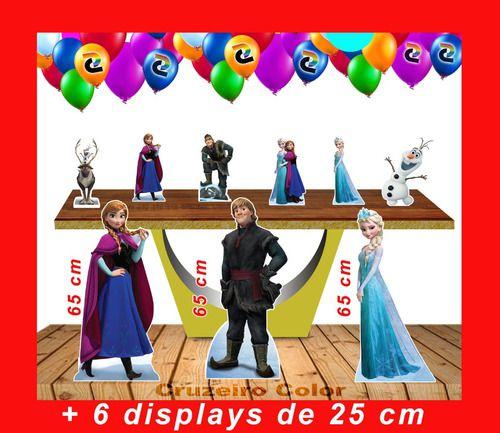Totens De Chão Frozen E Displays De Mesa 65cm E 20 Cm