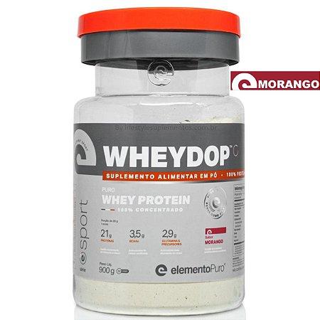 WheyDop Sport Concentrado Morango 900g - Elemento Puro