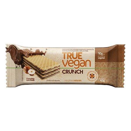True Vegan Crunch Chocolate Com Avelã 40g  - True Source