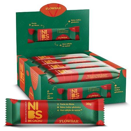 Barra de Nuts Nibs Cacau 30g 12 Unidades - FlowBar