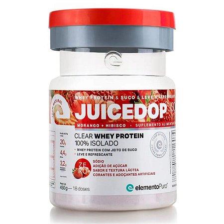 Juicedop Clear Morango + Hibisco 450g - Elemento Puro