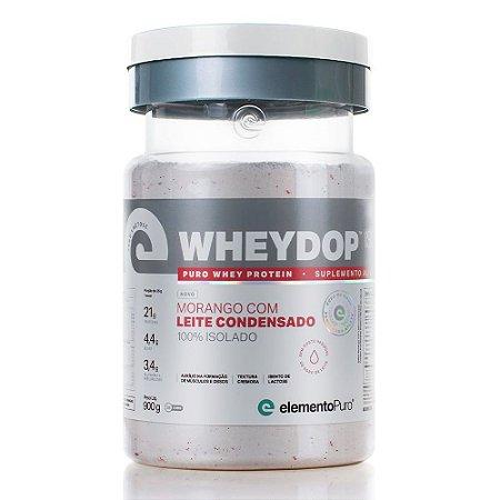 WheyDop Iso Morango C/ Leite Condensado 900g - Elemento Puro