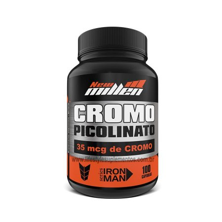 Picolinato de  Cromo 100 cáps- New Millen