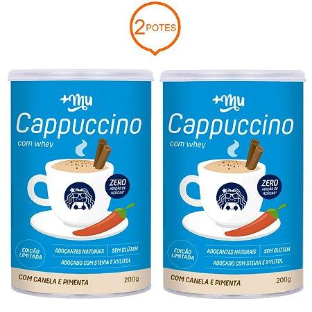 Combo 2 Potes Cappuccino com Whey 200g - Mais Mu