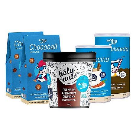 Combo +Mu 1 Creme Amendoim + 1 Cappuccino + 1 Achocolatado + 2 Chocoballs