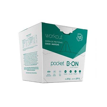 Barra de Proteínas Pocket Coco + Machá 16 Unidades - B-ON