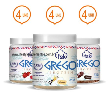 Combo 12 Potinhos Grego Protein 30g - Forseek