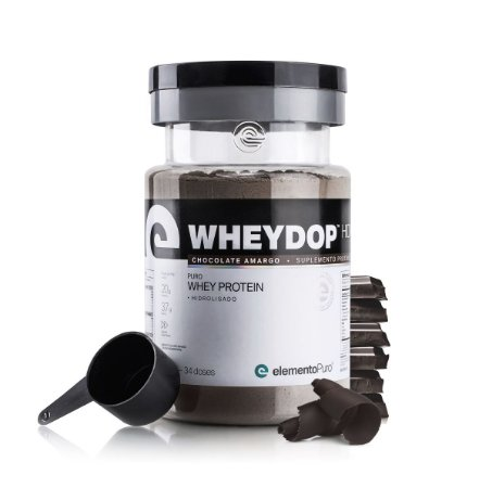 WheyDop Hidro 900g Chocolate Amargo - Elemento Puro
