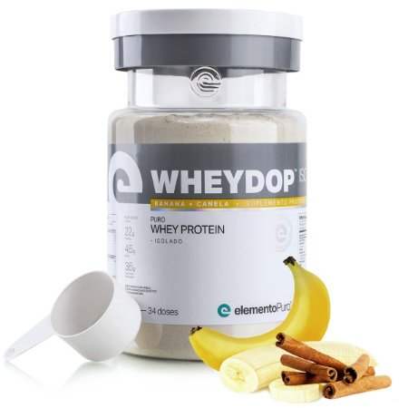 WheyDop Iso (900g) Banana Com Canela - Elemento Puro