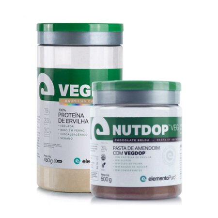 Kit VegDop 450g Baunilha Caramelizada + NutDop VEG - Elemento Puro
