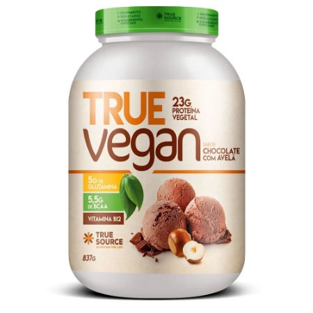 True Vegan Chocolate Com Avelã 837G - True Source
