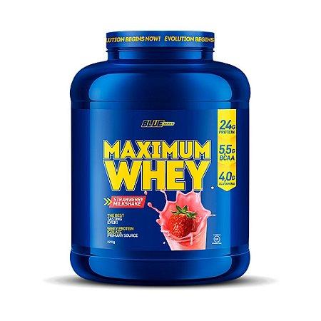 Maximum Whey Strawberry Milkshake 2,272g - Blue Series