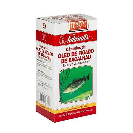 Óleo de Fígado de Bacalhau (250mg) 100 Cápsulas - Naturalis